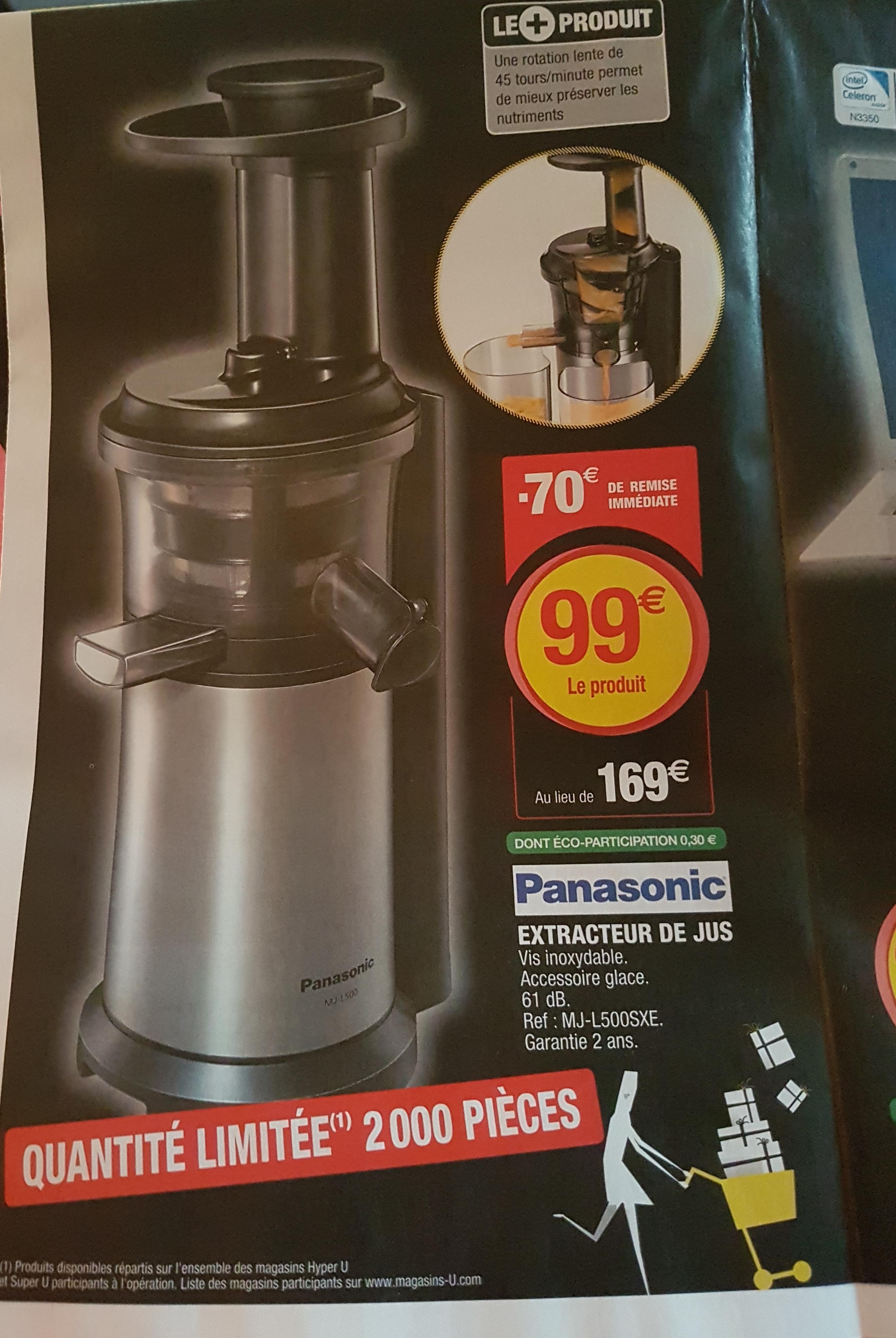 Extracteur de jus Panasonic MJ-L500SXE - 150 W