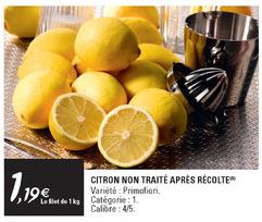 Le Kilogramme de citrons non traités