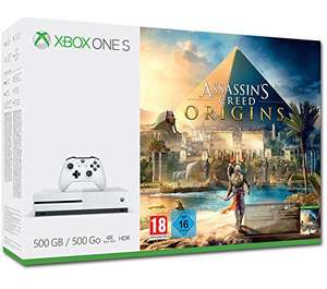 Pack Xbox One S 500go + 1 jeu (Assassin's Creed Origins, Rocket League..)