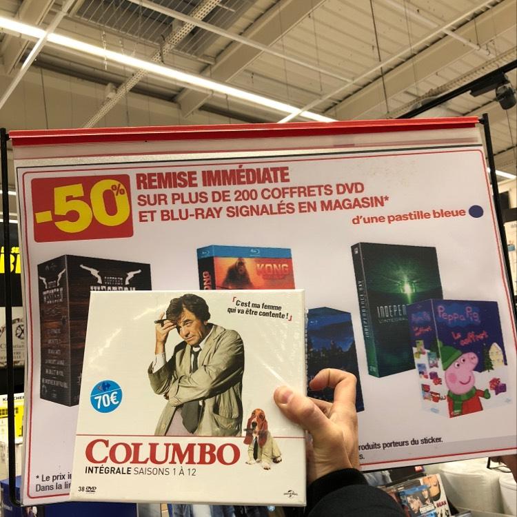 50% de réduction sur une sélection de Coffrets DVD/Blu-ray - Ex : Coffret DVD Intégrale Columbo