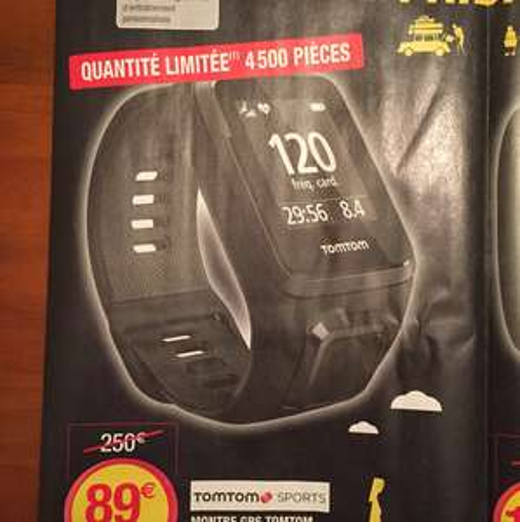 Montre GPS Tomtom spark cardio plus music - Reconditionné (Hyper U)