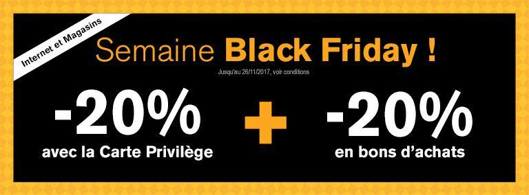[Carte privilège] 20% de réduction + 20% offerts en bon d'achat