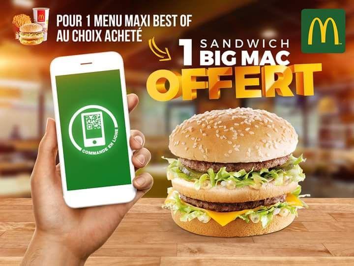 1 Big Mac offert pour l'achat d'un menu Maxi Best Of - Auchy Les Mines (62)