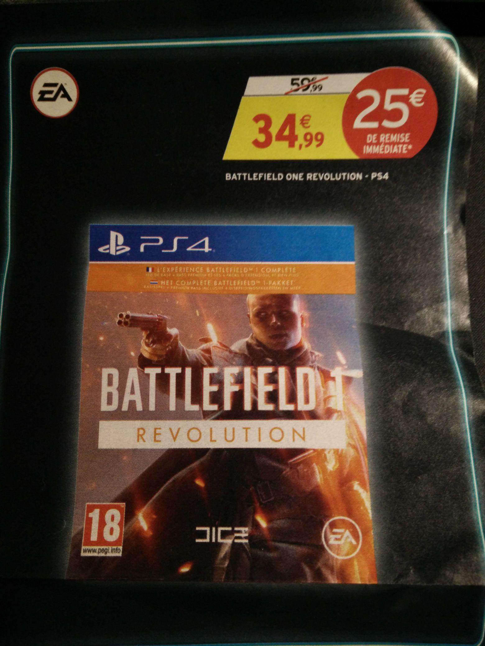 Battlefield 1 Révolution sur PS4 (Jeu + Season pass)