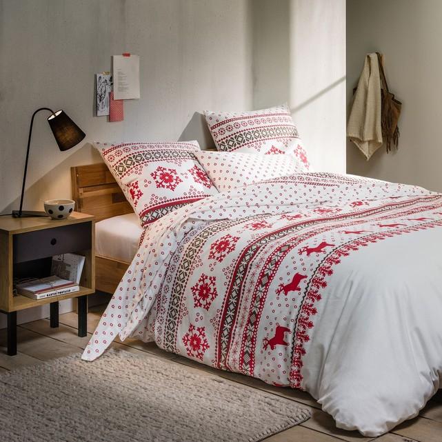 linge de lit flanelle imprim e housse de couette ov lis 200x200cm. Black Bedroom Furniture Sets. Home Design Ideas