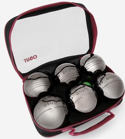 Trousse de 6 boules de pétanque Obut 100% acier + 1 but