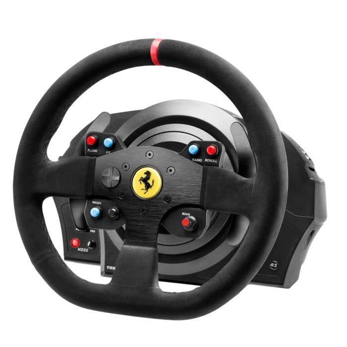 Volant ThrustMaster T300 Ferrari Alcántara Edition pour PS3/ PS4/ PC
