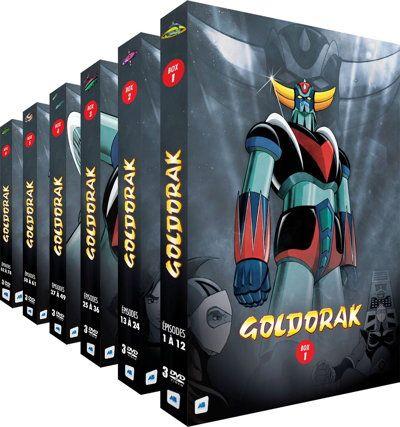 Pack de 6 coffrets DVD Goldorak - L'Intégrale (version non-censurée)