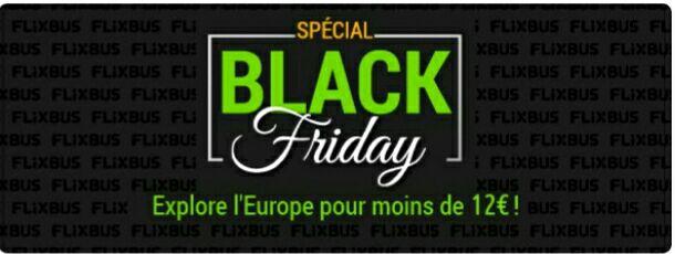 Sélection de billets pour le Black Friday dés 5 euros pour des voyages en France et dés 12€ pour l'Europe