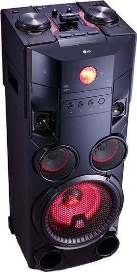 Chaîne HiFi verticale LG OM7560 - avec platine DJ et jeux de lumière, Bluetooth, 1000 W RMS