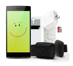 Smartphone Oppo Find 7 + casque bluetooth iLike + cover + protection écran + chargeur rapide
