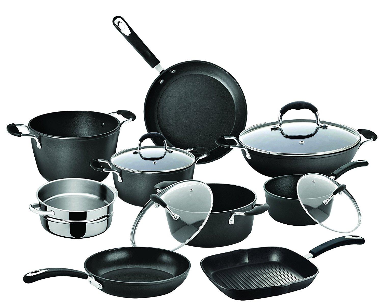 Sélection d'ustensiles de cuisine en promotion - Ex : Batterie de Cuisine Bialetti 0C0SET13 - Fonte, Noir, 13 pièces