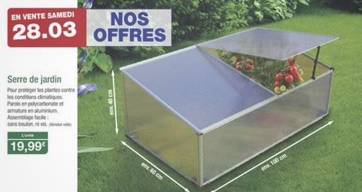 Serre de jardin 100x60x40cm