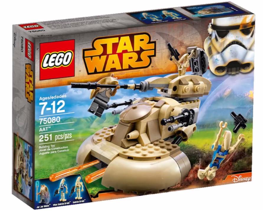 25% sur carte de fidélité sur une sélection de lego - Ex : lego Starwars 75080 AAT