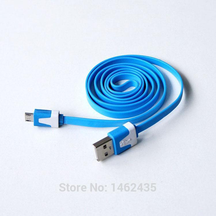 Câble plat micro USB pour recharge/transferts smartphone 90 cm