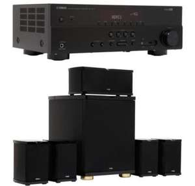 Pack Home cinéma Ampli 5.1 Yamaha RXV377 Noir + Pack d'enceintes Advance Acoustics MAV 501