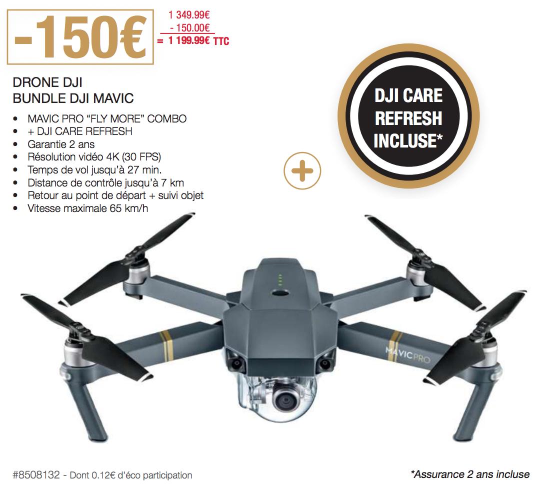 """[Carte CostCo] DJI Mavic Pro """"Fly More"""" Combo + DJI Care Refresh - CostCo Villebon-sur-Yvette (91)"""