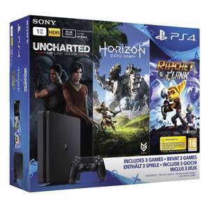 Console PS4 Slim 1To + Horizon Zero Dawn + Uncharted The Lost Legacy + Ratchet & Clank