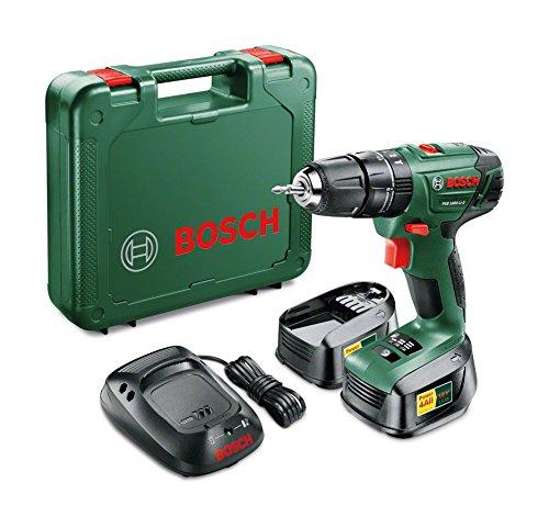 Perceuse visseuse à percussion sans-fil Bosch PSB 1800 LI-2 - 18 V (avec 2 batteries 1.5 Ah + malette + chargeur + tournevis bit