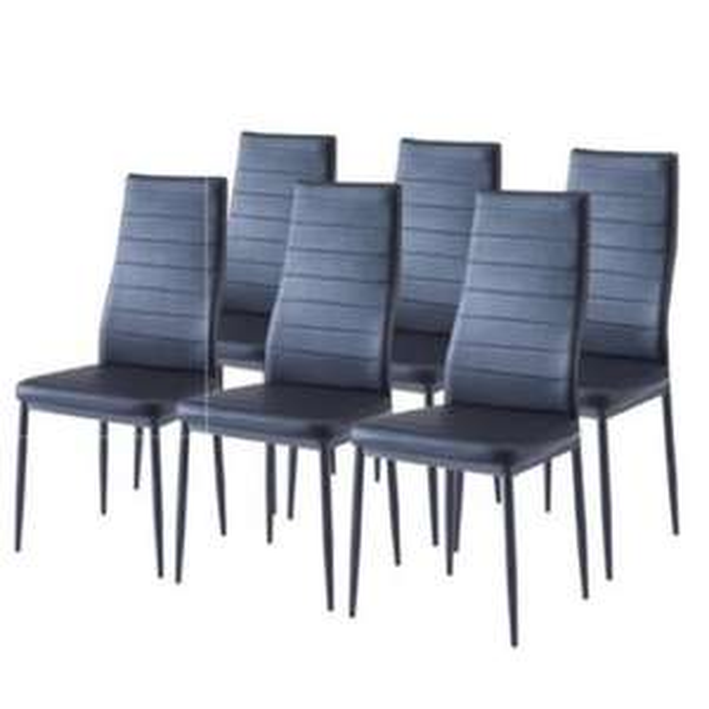 Lot de 6 chaises de salle à manger SAM - Noire