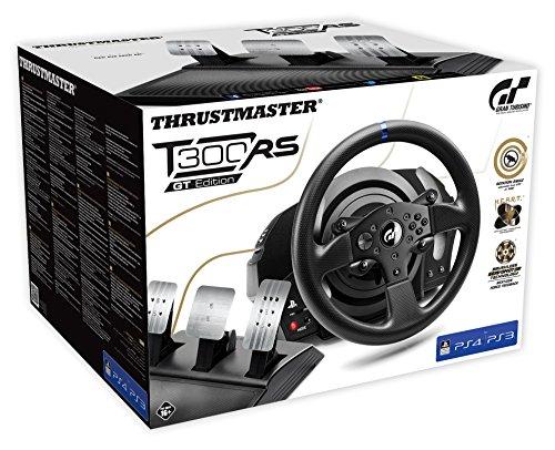 Volant T300RS ThrustMaster GT Edition à retour de force 1080° compatible PS4, PS3 et PC - Noir