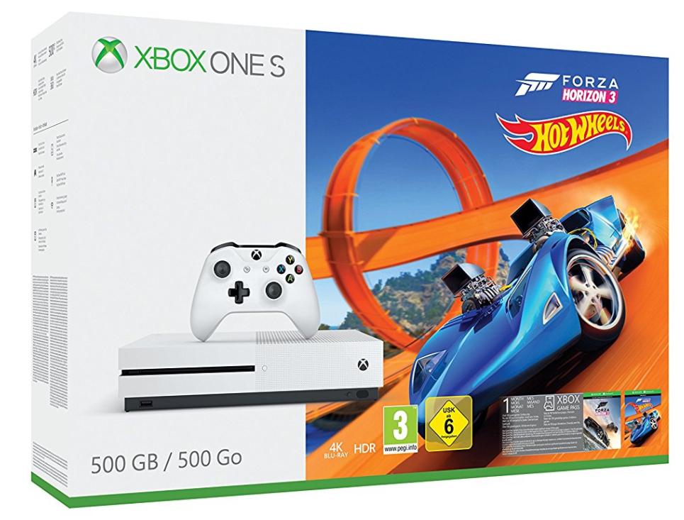 Sélection produits en promo - Ex : Console Xbox One S - 500 Go White - Forza Horizon 3 et HotWheels (frontaliers suisses)