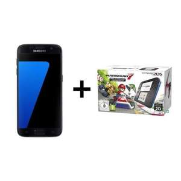"Smartphone 5.1"" Samsung Galaxy S7 + Nintendo 2DS + Mario Kart 7 Préinstallé (via ODR 70€)"