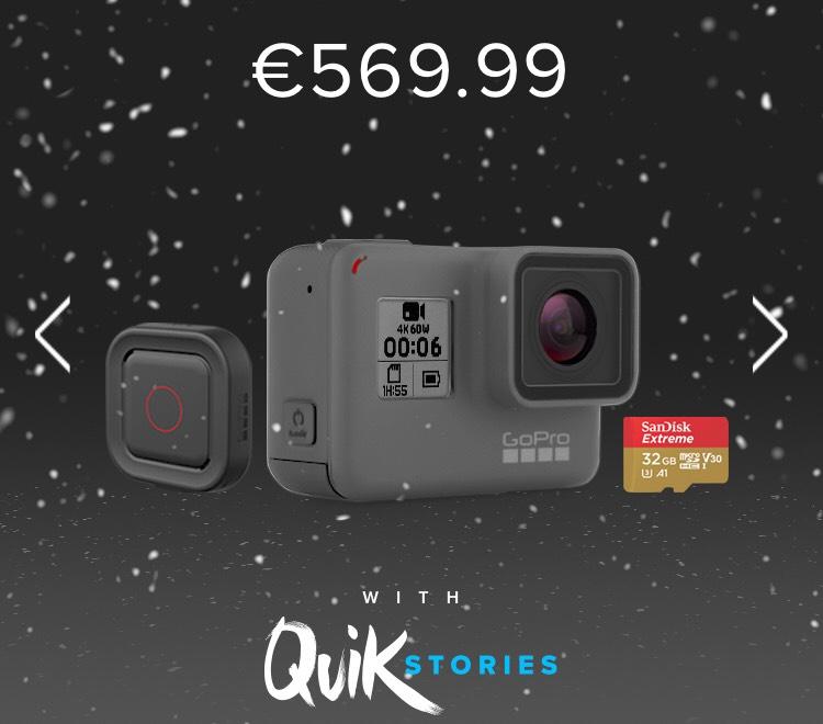 Caméra Go Pro Hero 6 Black + Remo + SanDisk Extreme 32 Go