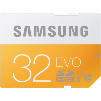 Carte mémoire SD Samsung Evo 32 Go Classe 10 (avec ODR 30€)
