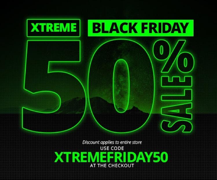50% de réduction sur tous les Skins Xtreme