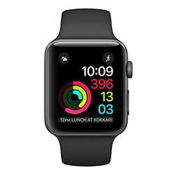 Apple Watch Series 1 boitier 38mm aluminium gris sidéral bracelet sport noir (via ODR de 50€)