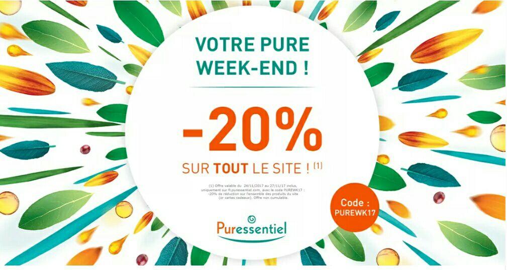 20% de réduction sur tout le site Puressentiel