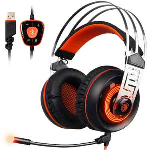 Casque micro Sades A7 Gaming Headset 7.1 son surround virtuel USB (Vendeur tiers)
