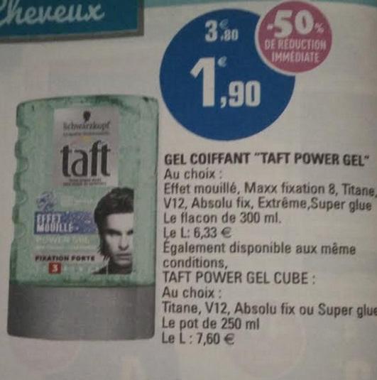 Gel coiffant Taft Power Gel de schwarzkopf (50% de remise + 1€ de bon de réduction)