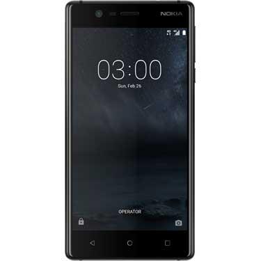 Smartphone Nokia 3 Dual Sim, 2Go RAM, Matt Black (Frontaliers Belgique)