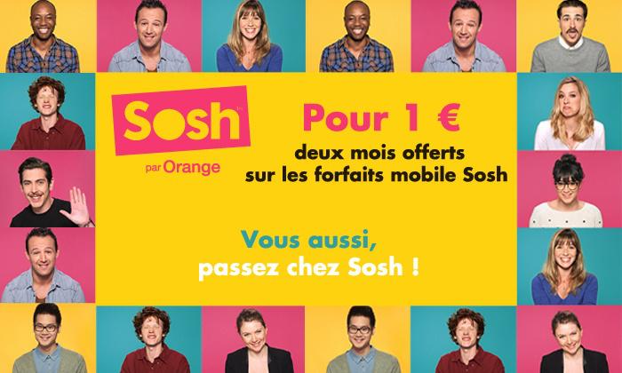 2 mois offerts sur les forfaits mobile Sosh