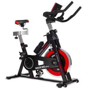 Vélo Indoor sportif FITFIU - Roue d'inertie 24Kg - Cardiofréquencemètre - Ecran lcd