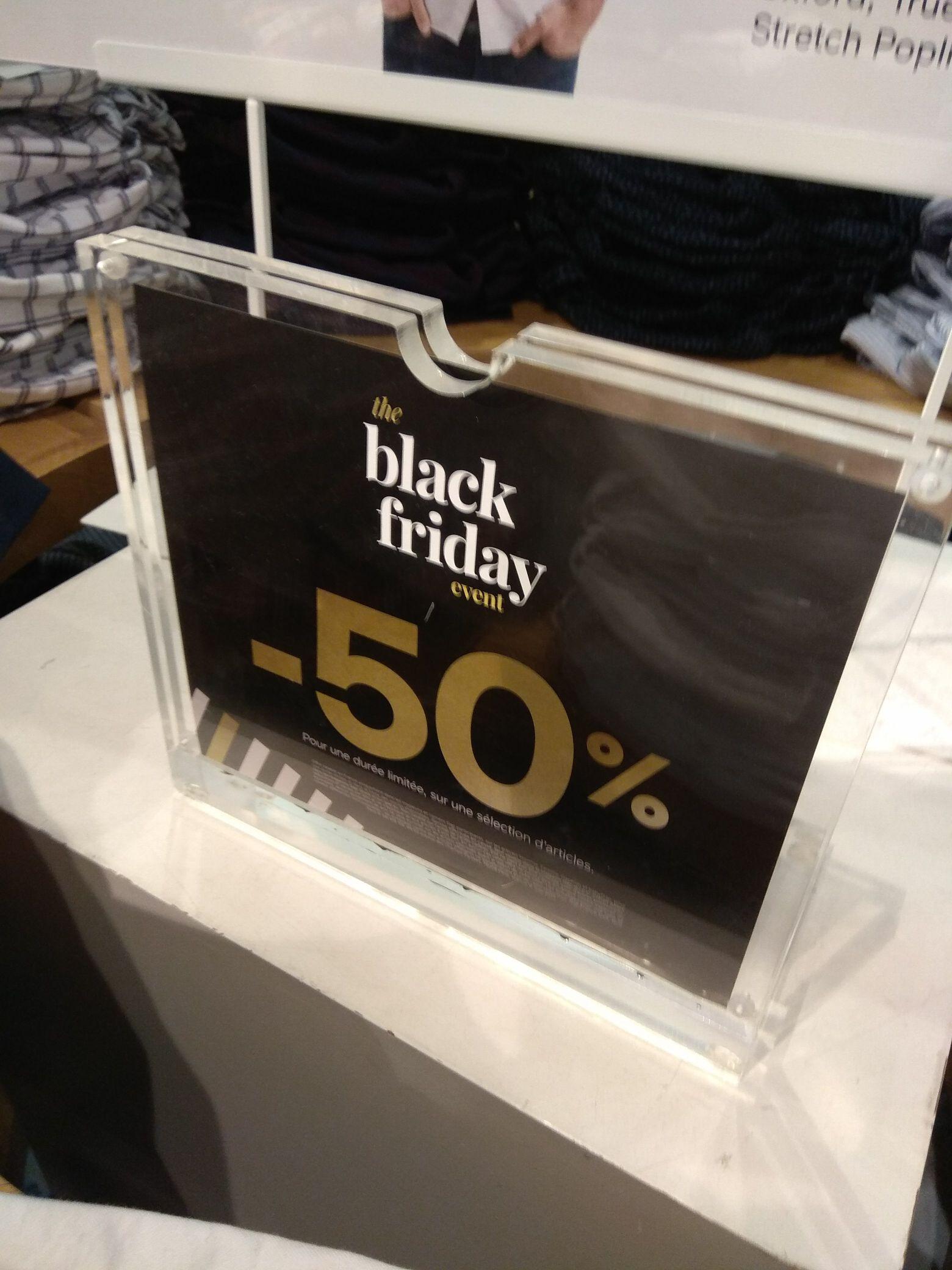 50% de réduction sur tout le magasin - Gap
