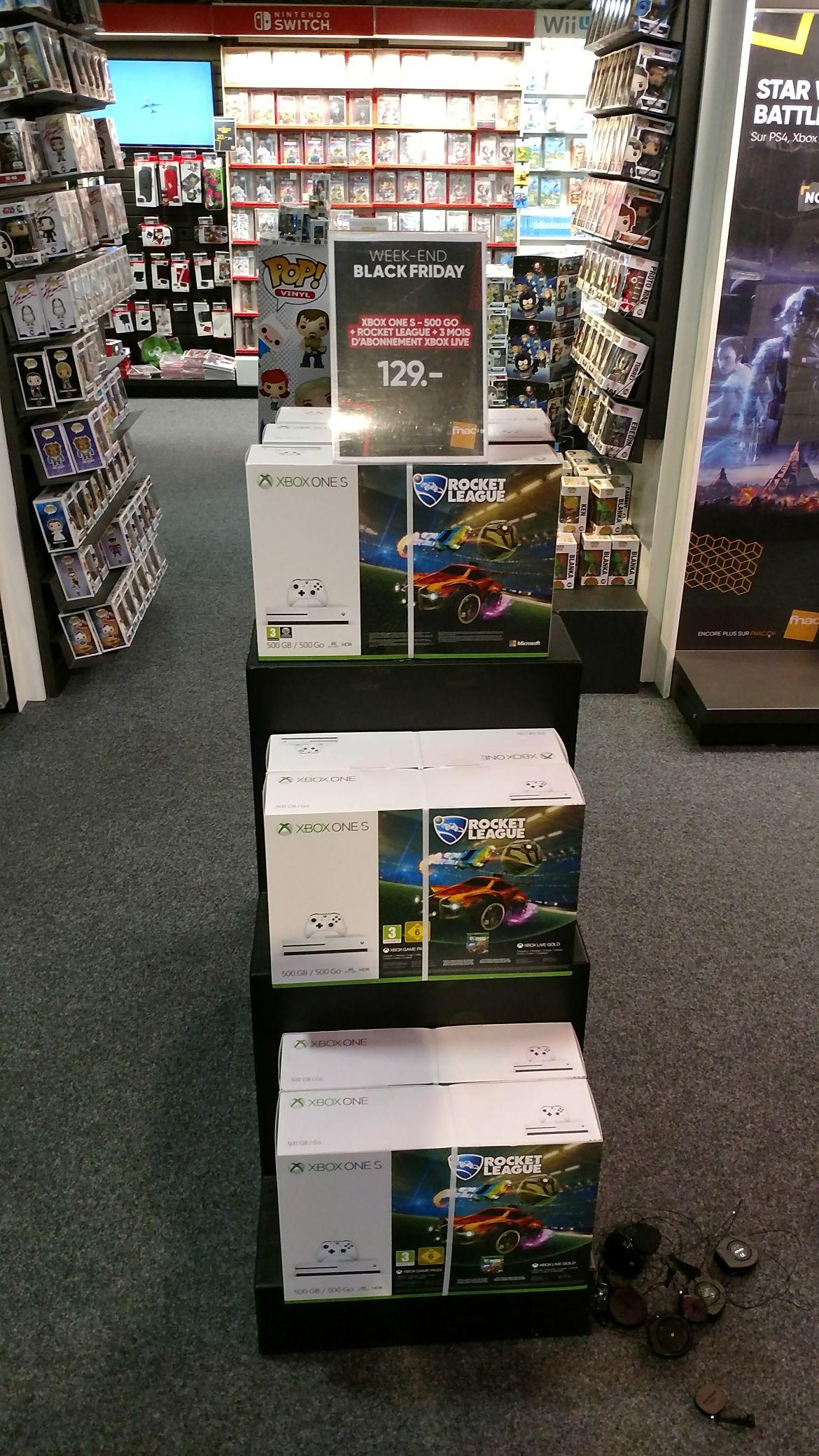Console Microsoft Xbox One S 500 Go + Rocket League + 3 mois Xbox live - Genève (Frontaliers Suisse)