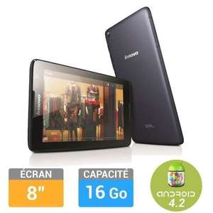 "Tablette 8"" Lenovo A8-50 noir ou blanc (ODR 30€)"