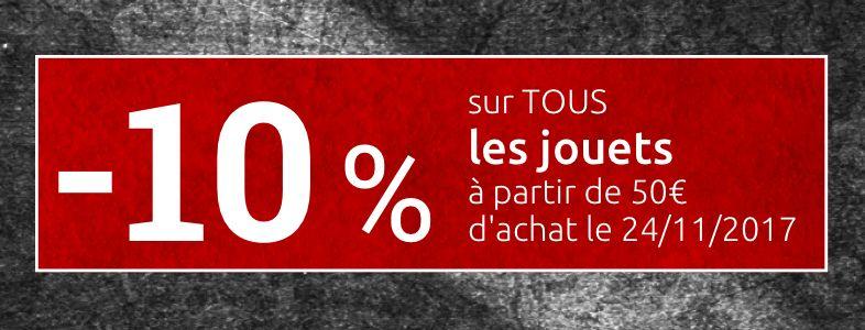 10% de réduction sur tout les jouets dès 50€ d'achats chez Collishop (Frontaliers Belgique)