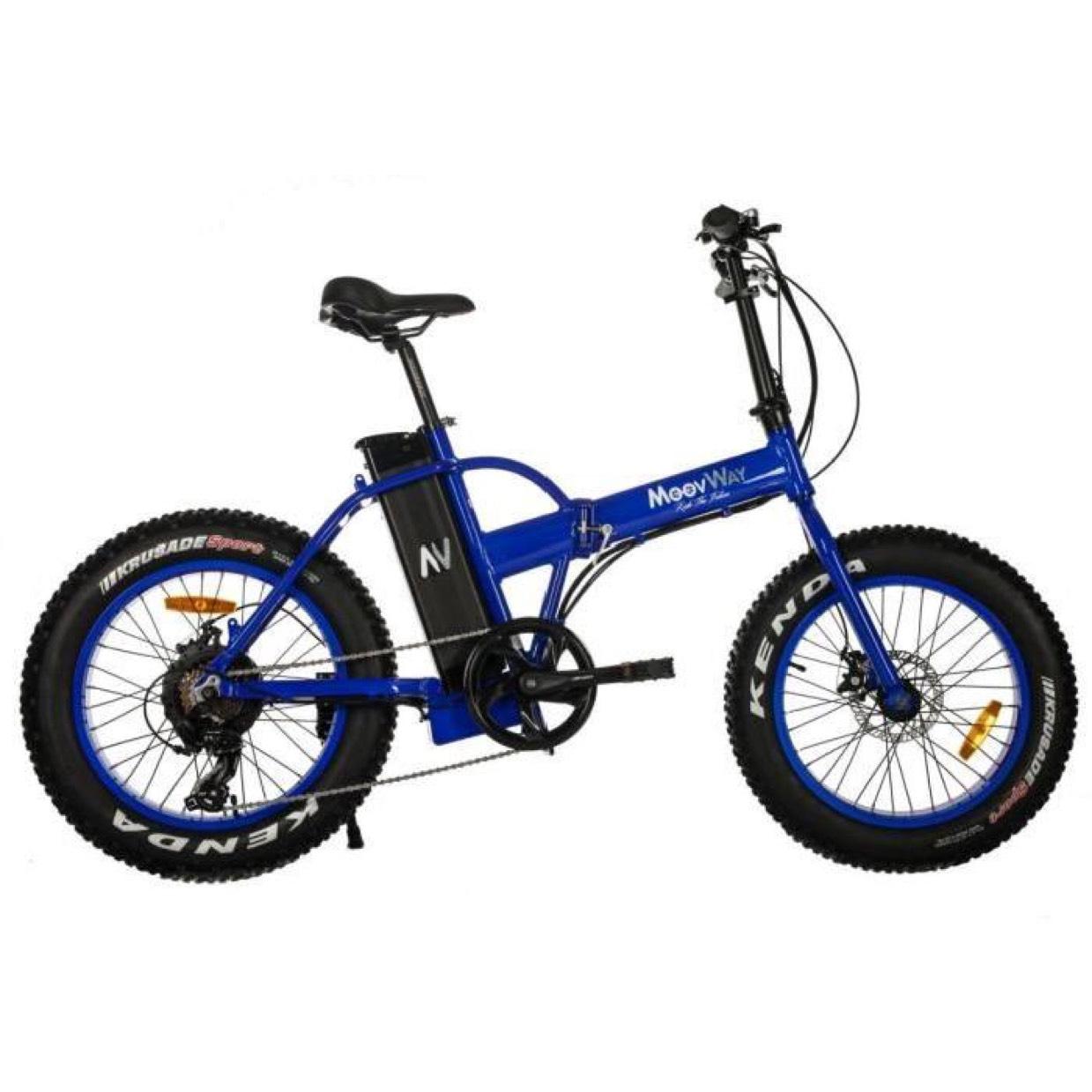 Vélo électrique et pliant Moovway Fat Bike bleu