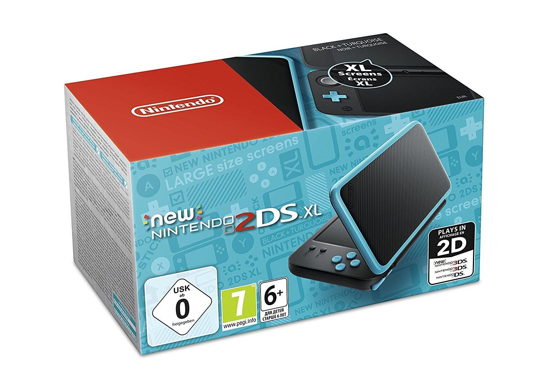 Console New Nintendo 2DS XL - Noir & Turquoise + Zelda : A link between worlds +Luigi's Mansion 2 + Pokemon X (dématérialisée)