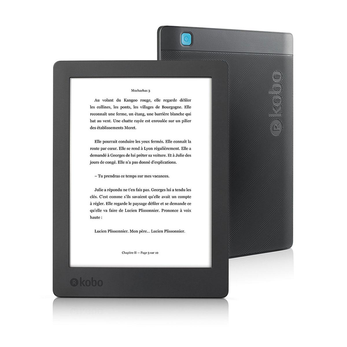 """Liseuse étanche 6.8"""" Kobo Aura H2O 8Go Wi-Fi (Edition 2)"""
