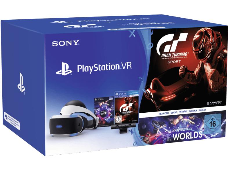 Casque de réalité virtuelle VR + Caméra PS4 V2 + VR Worlds + GT Sport - Frontalier belgique