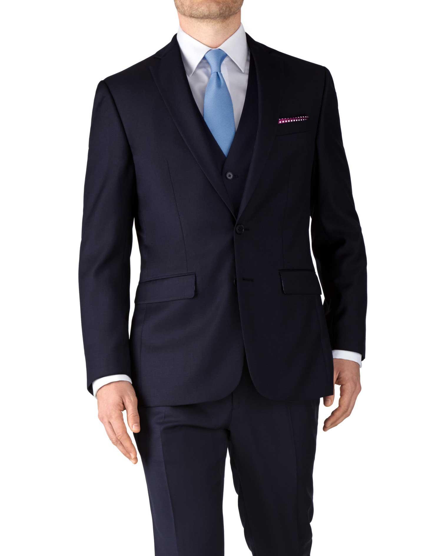 Costume Navy Slim Fit twill business Charles Tyrwhitt