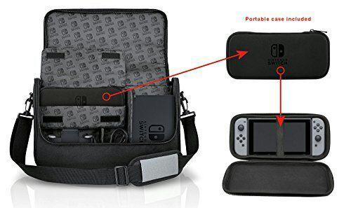 Sacoche de transport PowerA Everywhere Messenger pour Nintendo Switch - Noir