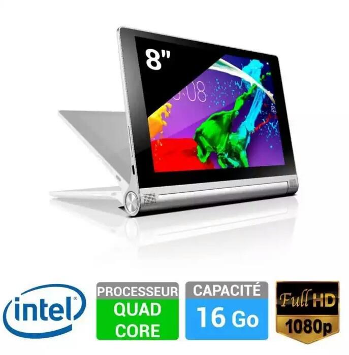 """Tablette 8"""" Lenovo Yoga 2-830, full HD (ODR 50€)"""