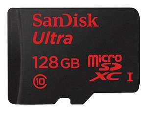 Carte Micro SDXC SanDisk Ultra 128 Go UHS-I 48MB/s C10 avec adaptateur