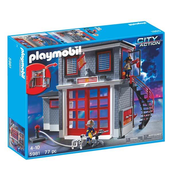 Playmobil station de pompiers N°5981